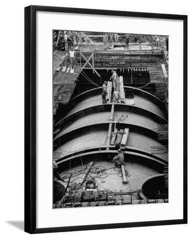 Construction of Atomic Plant-Yale Joel-Framed Art Print