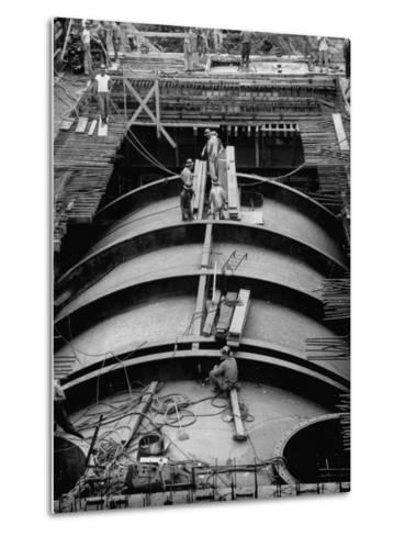 Construction of Atomic Plant-Yale Joel-Metal Print