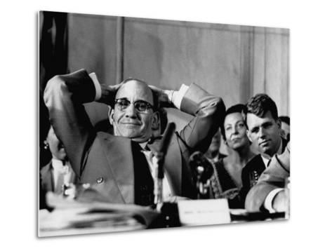 Sen. John L. Mcclellan and Robert F. Kennedy, During the Army-McCarthy Hearings-Yale Joel-Metal Print