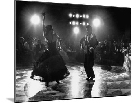 The Opening of the Castellana Hilton Hotel, Spanish Dancers Doing a Famenca Number in Patio-Yale Joel-Mounted Photographic Print