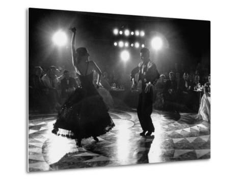 The Opening of the Castellana Hilton Hotel, Spanish Dancers Doing a Famenca Number in Patio-Yale Joel-Metal Print