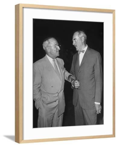 Pres. Harry S. Truman Talking to Dean Acheson--Framed Art Print