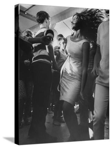 Teenagers Dancing at TV's Hullaballoo Scene--Stretched Canvas Print