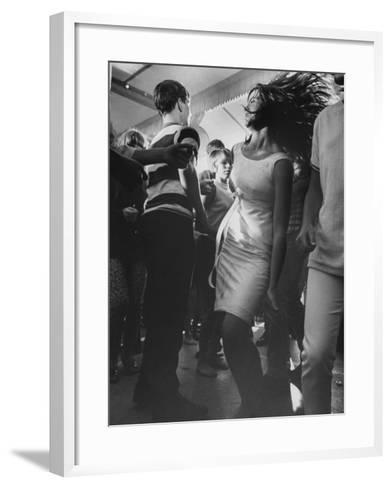 Teenagers Dancing at TV's Hullaballoo Scene--Framed Art Print