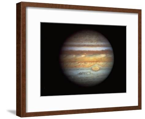 First True-Color Photo of Planet Jupiter Taken from Hubble Space Telescope--Framed Art Print