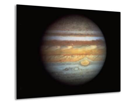First True-Color Photo of Planet Jupiter Taken from Hubble Space Telescope--Metal Print