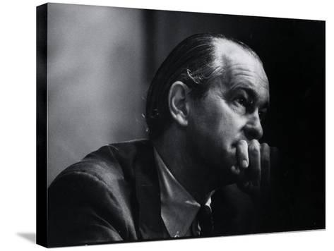 US Amb. to Iran Richard Helms, Formerly CIA Dir., During His Testimony at Watergate Hearings-Gjon Mili-Stretched Canvas Print