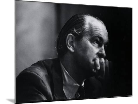 US Amb. to Iran Richard Helms, Formerly CIA Dir., During His Testimony at Watergate Hearings-Gjon Mili-Mounted Photographic Print