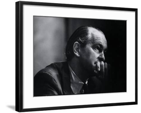 US Amb. to Iran Richard Helms, Formerly CIA Dir., During His Testimony at Watergate Hearings-Gjon Mili-Framed Art Print