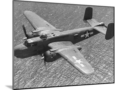 Excellent of a B-25 Mitchell Bomber in Flight--Mounted Photographic Print