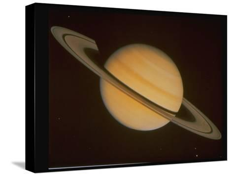 Optical Pictures Taken by Voyager 1 of Planet Saturn--Stretched Canvas Print