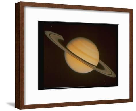 Optical Pictures Taken by Voyager 1 of Planet Saturn--Framed Art Print