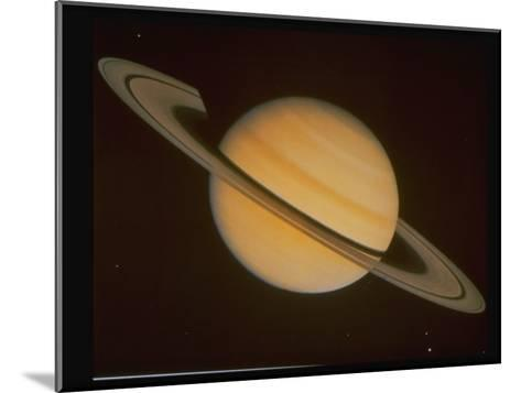 Optical Pictures Taken by Voyager 1 of Planet Saturn--Mounted Photographic Print