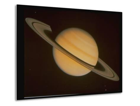 Optical Pictures Taken by Voyager 1 of Planet Saturn--Metal Print