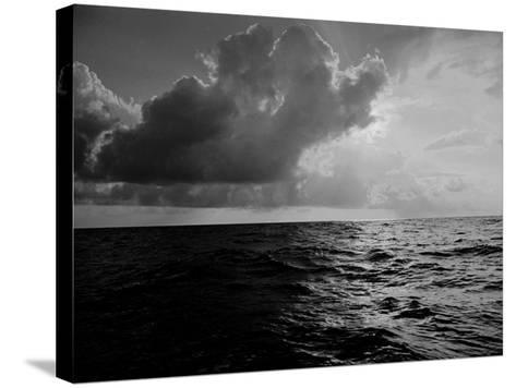 Sun-Lighted Thunderheads over the Atlantic-Peter Stackpole-Stretched Canvas Print