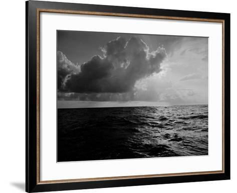 Sun-Lighted Thunderheads over the Atlantic-Peter Stackpole-Framed Art Print