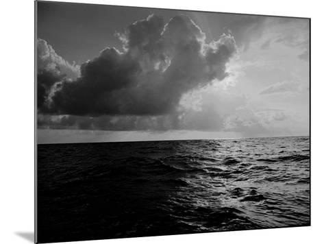 Sun-Lighted Thunderheads over the Atlantic-Peter Stackpole-Mounted Photographic Print