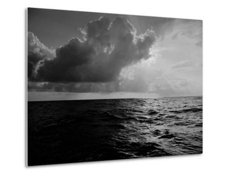 Sun-Lighted Thunderheads over the Atlantic-Peter Stackpole-Metal Print