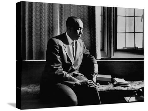 Reverend Howard Thurman, Sitting in His Study--Stretched Canvas Print