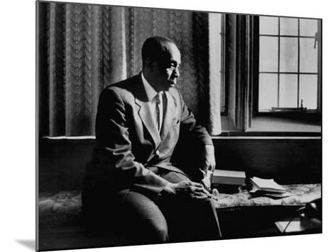 Reverend Howard Thurman, Sitting in His Study--Mounted Photographic Print