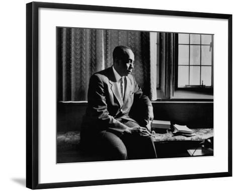 Reverend Howard Thurman, Sitting in His Study--Framed Art Print