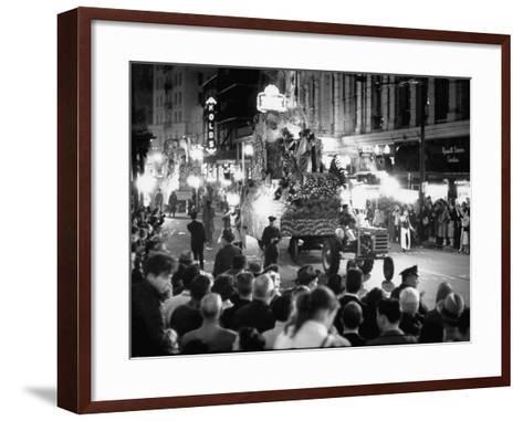 Mardi Gras Parade--Framed Art Print