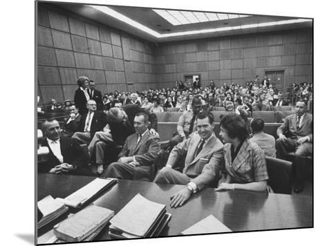 Carole Tregoff and Dr. Bernard Finch During Recess of Murder Trial-Ralph Crane-Mounted Photographic Print