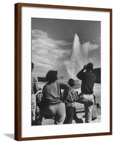 Old Faithful in Yellowstone National Park--Framed Art Print