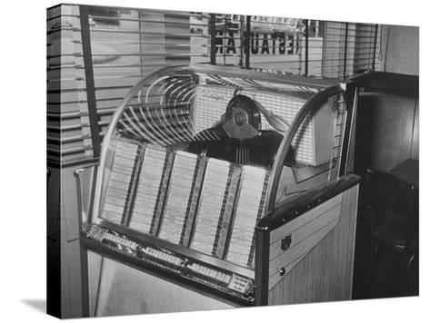 Jukebox Machine--Stretched Canvas Print