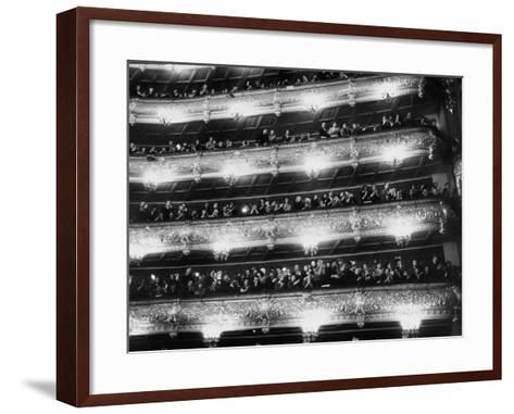 Audience Applauding Ballet Performed in the Bolshoi Theater--Framed Art Print