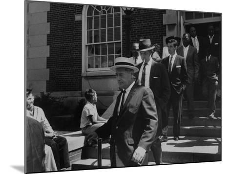Arlington School Board Members Leaving a Federal Court Re: School Integration-Ed Clark-Mounted Photographic Print