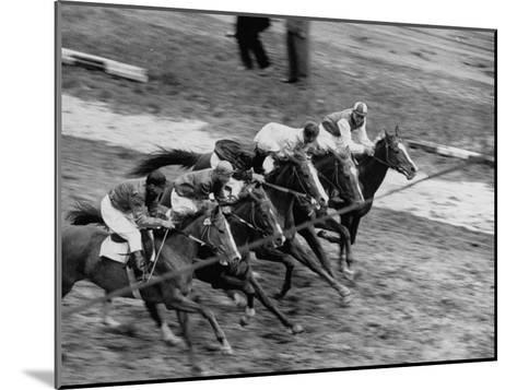 Racing at the Annual Horse Show at Hippodrome Stadium--Mounted Photographic Print