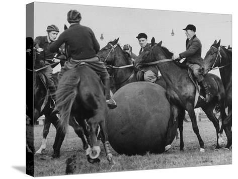 Push Ball Game at the Annual Horse Show at the Hippodrome--Stretched Canvas Print