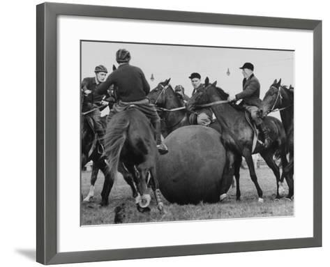 Push Ball Game at the Annual Horse Show at the Hippodrome--Framed Art Print