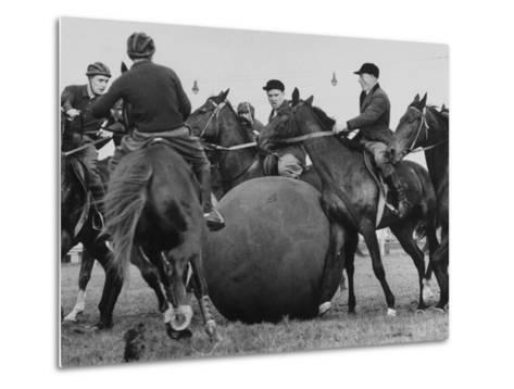 Push Ball Game at the Annual Horse Show at the Hippodrome--Metal Print