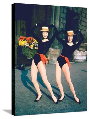 Dancer Twins Ellen and Alice Kessler of English Bluebell Troupe-Loomis Dean-Stretched Canvas Print