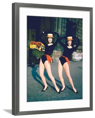 Dancer Twins Ellen and Alice Kessler of English Bluebell Troupe-Loomis Dean-Framed Art Print