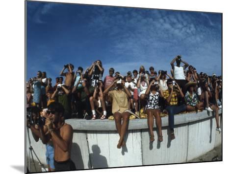 Fish Eye View of Spectators Watching Apollo 11 Blast-Off-Ralph Crane-Mounted Photographic Print