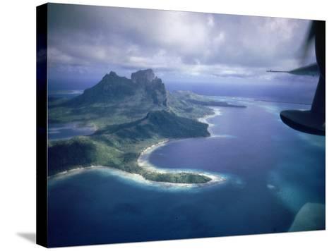 Island of Bora Bora; Part of South Seas Photo Essay--Stretched Canvas Print