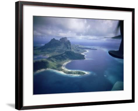 Island of Bora Bora; Part of South Seas Photo Essay--Framed Art Print