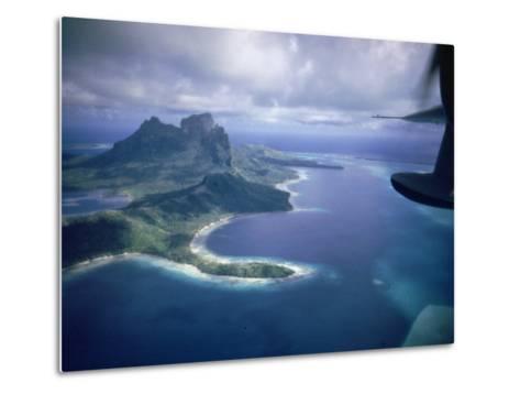 Island of Bora Bora; Part of South Seas Photo Essay--Metal Print