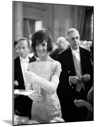 Jacquelin Kennedy Attending Luncheon W. Many Diginitaries Including French Pres. Charles Degaulle--Mounted Photographic Print