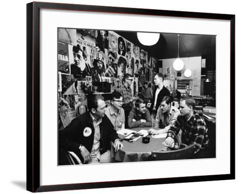 Group of American Army Veterans Who Oppose the Vietnam War Meeting at the Shelter Half Coffeehouse--Framed Art Print