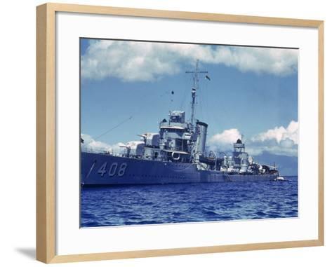 Destroyer Uss Wilson During Us Navy Manuevers Off the Hawaiian Islands-Carl Mydans-Framed Art Print