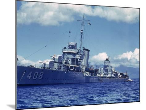 Destroyer Uss Wilson During Us Navy Manuevers Off the Hawaiian Islands-Carl Mydans-Mounted Photographic Print