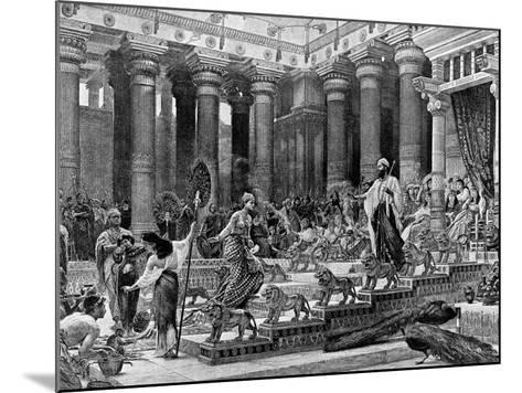 King Solomon Receiving the Queen of Sheba--Mounted Photographic Print