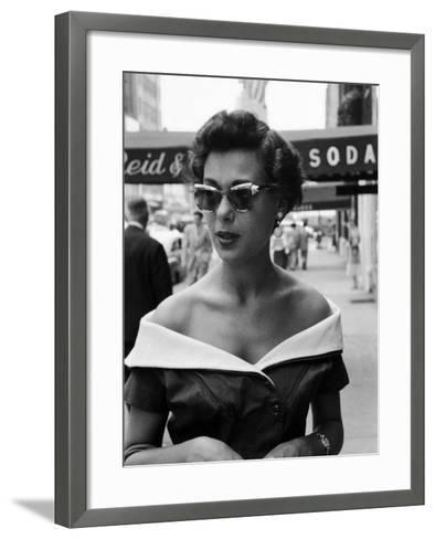 Attractive Young Woman in Manhattan-Lisa Larsen-Framed Art Print