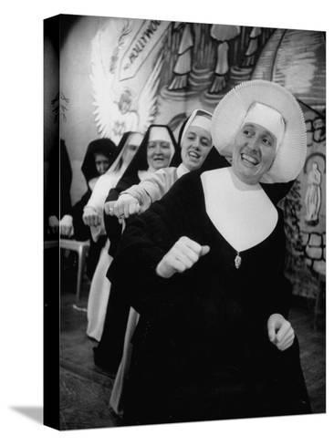 Nuns Putting on Original Musical Comedy at University of Notre Dame--Stretched Canvas Print