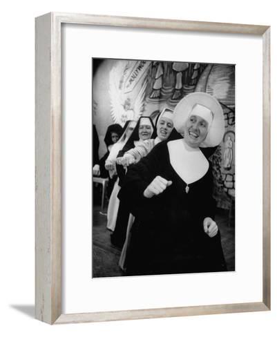 Nuns Putting on Original Musical Comedy at University of Notre Dame--Framed Art Print