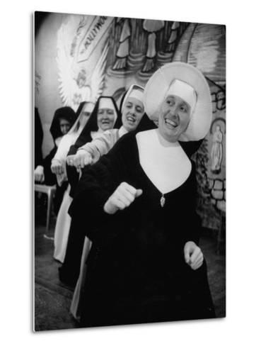 Nuns Putting on Original Musical Comedy at University of Notre Dame--Metal Print